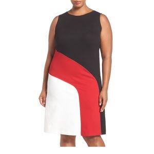 Michael kors color block sheath dress